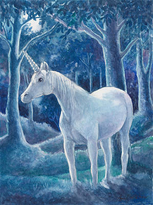 Painting - Moonlight by Ann Gates Fiser