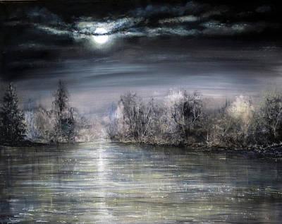 Acrylic Painting - Moonlight by Ann Marie Bone