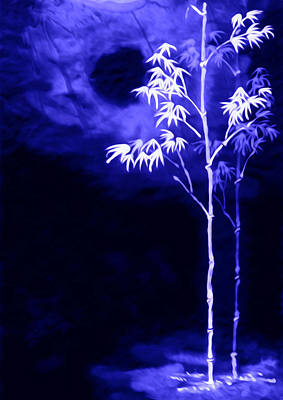 Beauty In Nature Painting - Moonlight Bamboo by Lanjee Chee