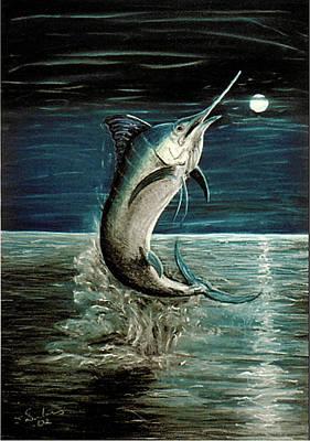 Fish Pastel - Moonlight Marlin by Elisabeth Dubois