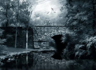 Spooky Digital Art - Moonlight Mood by Jessica Jenney
