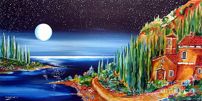 Moonlight Over My Tuscan Villa Original by Roberto Gagliardi