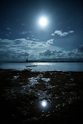 Philippines Photograph - Moonlight by Rodell Ibona Basalo