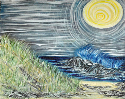 Painting - Moonlight Theaters by Suzanne Surber