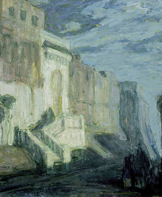 African-american Painting - Moonlight - Walls Of Tangiers by Henry Ossawa Tanner
