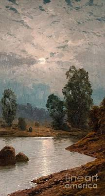 Moonlit Night Print by Eugen Taube