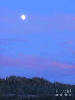 Painting - Moonrise At Ocean Beach 1 by Lori Ziemba