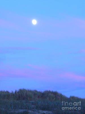 Painting - Moonrise At Ocean Beach 3 by Lori Ziemba