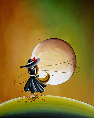 Figures Painting - Moonrise by Cindy Thornton