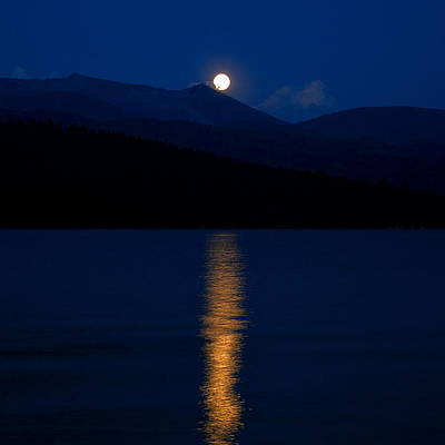 Boathouses Photograph - Moonrise by David Patterson