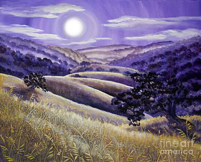 Moonrise Over Monte Bello Original by Laura Iverson