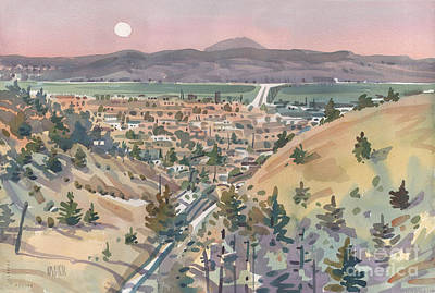 Moonrise Over San Mateo Print by Donald Maier
