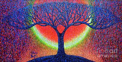 Tree Roots Painting - moonshine-2/God-is light/ by Viktor Lazarev
