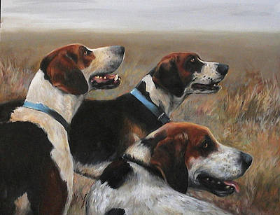 Moore County Hounds Print by Meridith Martens