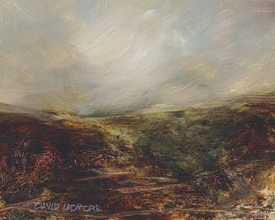 Windblown Painting - Moorland 76 by David Ladmore