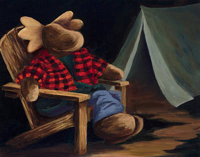Moose Camp Original by Mary Giacomini