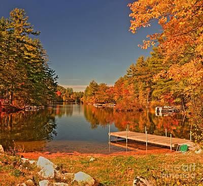 Autumn Photograph - Moose Pond by David Bishop