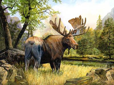 Moose Study Print by Robert May
