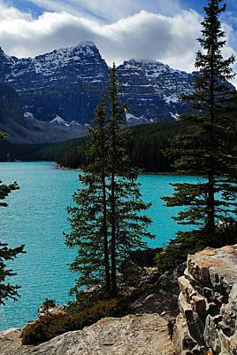 Scenic Photograph - Moraine Lake 2 by Larry Ricker