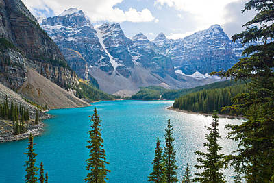 Alberta Photograph - Moraine Lake by Adam Pender