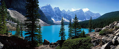 Moraine Lake Photograph - Moraine Lake Banff National Park by Panoramic Images