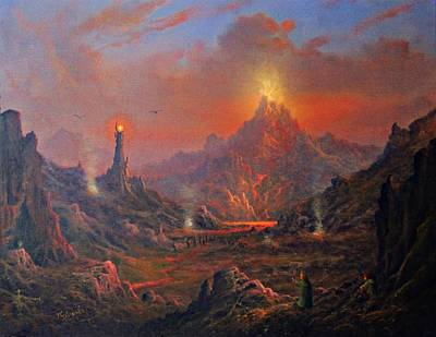 Tolkien Painting - Mordor Land Of Shadow by Joe Gilronan