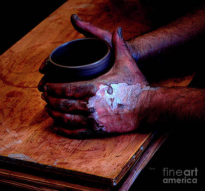 Pottery Photograph - More Beer Please by Steven  Digman
