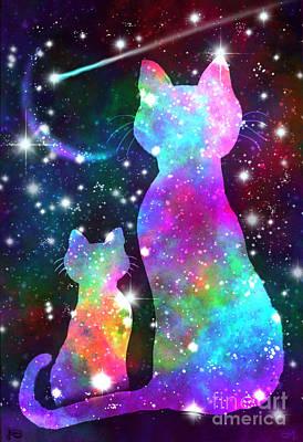 Digital Art - More Cosmic Cats by Nick Gustafson