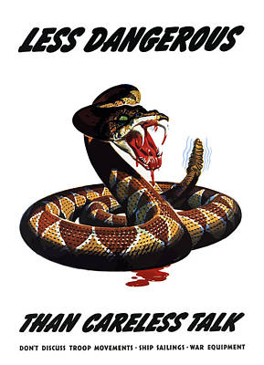 Rattlesnake Painting - More Dangerous Than A Rattlesnake - Ww2 by War Is Hell Store