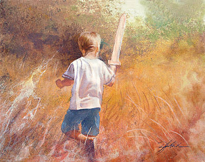 With Scripture Painting - More Than A Conqueror by Danny  Hahlbohm