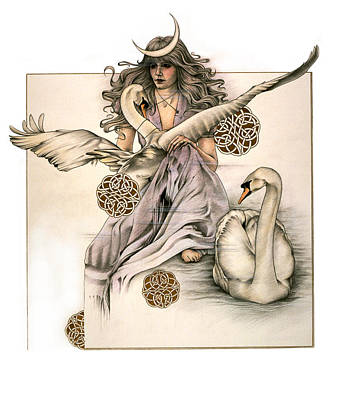 Fay Drawing - Morgaine by Johanna Pieterman