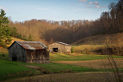 West Fork Photograph - Morgan County Farm Valey by Douglas Barnett