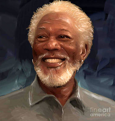 Morgan Freeman Print by Dori Hartley