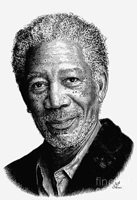 Morgan Freeman Posterise Edit Print by Andrew Read