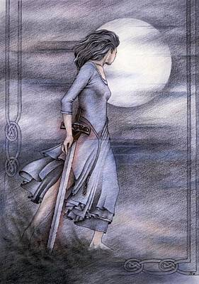 Fay Drawing - Morgan Le Fay by Johanna Pieterman