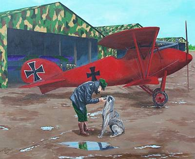 Albatross Painting - Moritz And Richthofen by Gene Ritchhart