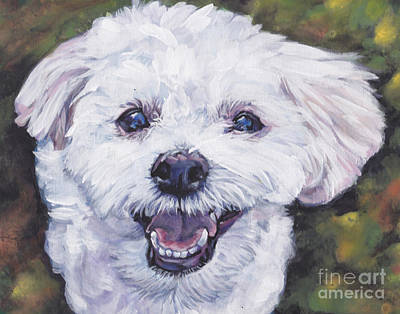 Yorkshire Terrier Art Painting - Morkie  Maltese Yorkie by Lee Ann Shepard
