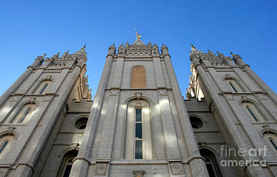 Mormon Temple Print by David Lee Thompson