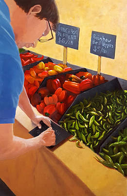 Pepper Painting - Morning At The Market by Karyn Robinson