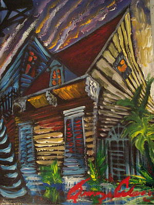 New Orleans Oil Painting - Morning Before The Storm by Amzie Adams
