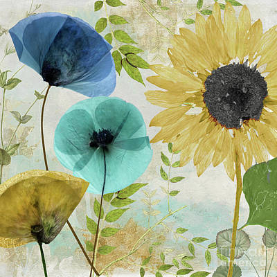 Blue Poppies Painting - Morning Blue II by Mindy Sommers