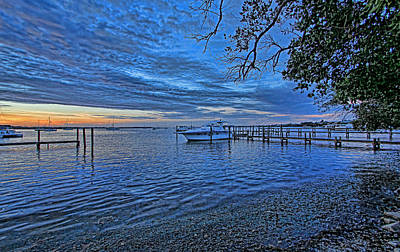 Sunrise Photograph - Morning Blues by HH Photography of Florida