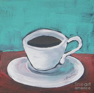 Coffee Painting - Morning Coffee by Vesna Antic