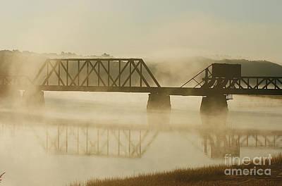Railroad Bridge Photograph - Morning Fog by Cindi Ressler