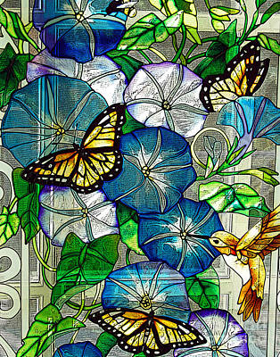 Morning Glory Print by Diane E Berry