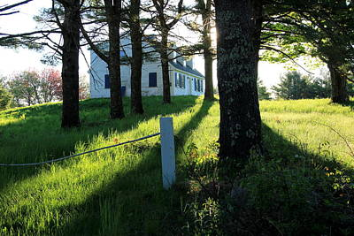Maine Farmhouse Photograph - My Heart Sings by Laurie Breton