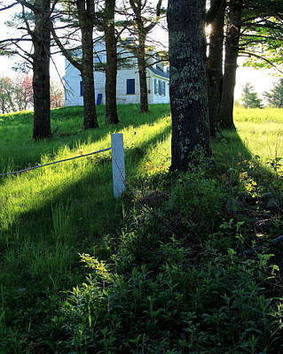 Maine Farmhouse Photograph - Morning Glory by Laurie Breton