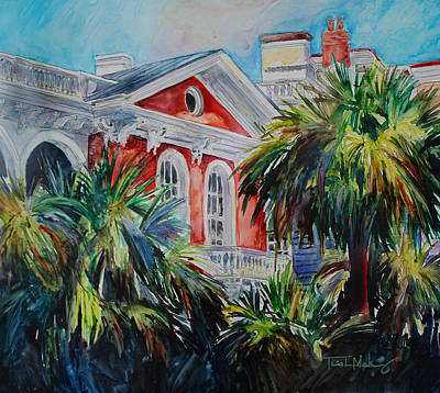 Charleston Houses Painting - Morning Glory On The Battery by Trish McKinney