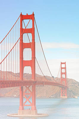 Suspension Photograph - Morning Has Broken - Golden Gate Bridge San Francisco by Christine Till