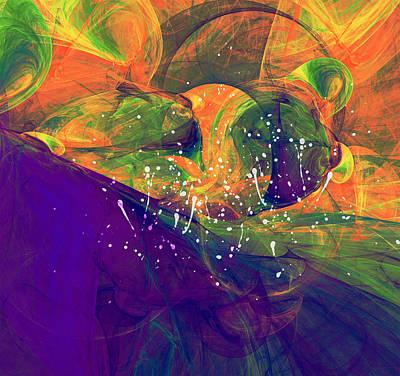 Morning Heat Abstract Print by Georgiana Romanovna